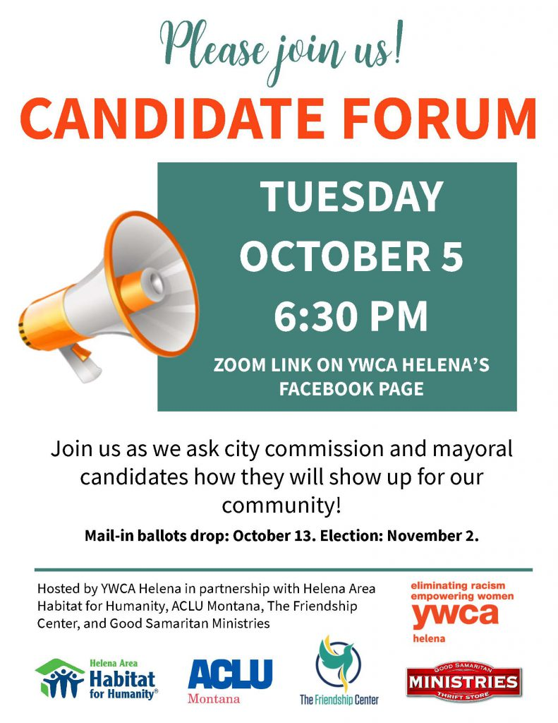 Please join us for the Candidate Forum Tuesday October 5th 6:30